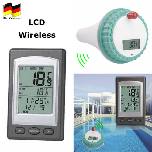 Schwimmbad Thermometer Profi Remote Floating Wireless LCD Pool Teich Wasser Funk