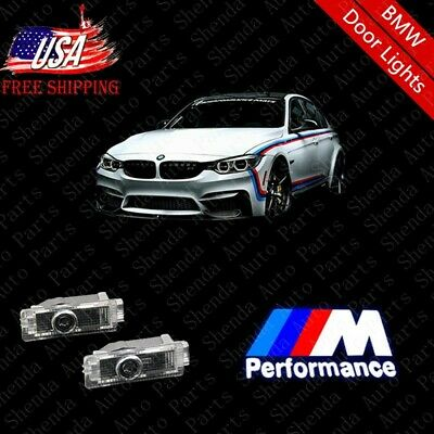 2pcs High quality Car Door LED Light M Performance Logo Projector Emblem For BMW