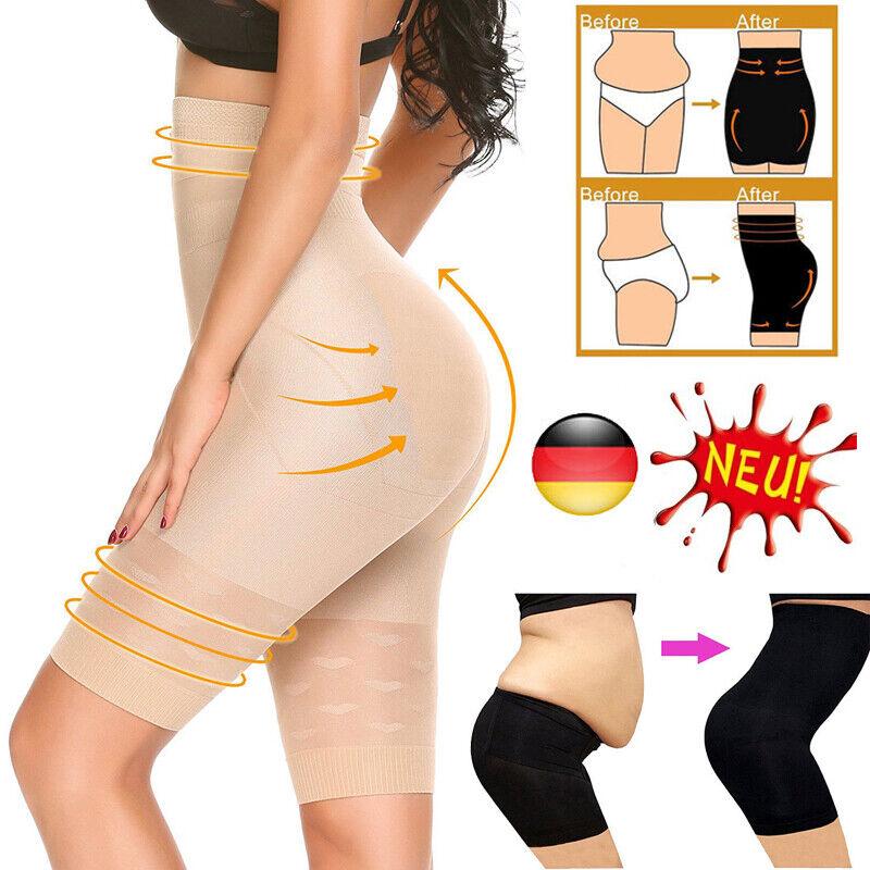DE Damen Bodyshaper Hohe Taille Miederhose Bauchweg Slim Pants Shapewear Hose DG