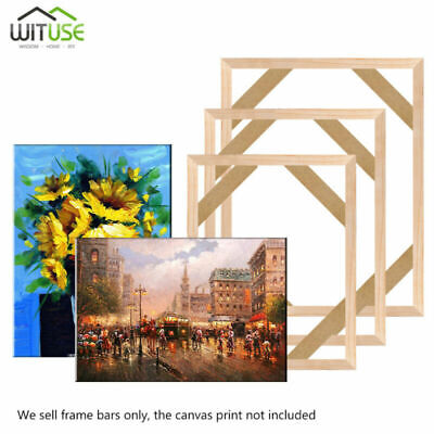DIY Wooden Bar Frames Kit For Canvas Painting Art Stretcher Strip Gallery Wrap