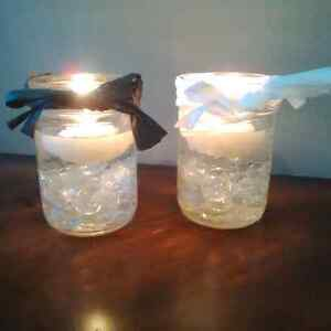 Wedding decorations mason jar candle holders