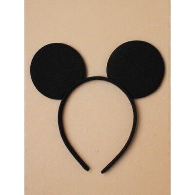 Black micky mouse ears boys/girls headband Fancy Dress Costume Accessory - Micky Mouse Costume