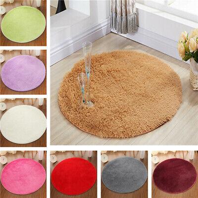 Round Fluffy Rug Carpet Non Slip Soft Area Rugs Washable Bathroom Room Floor Mat ()