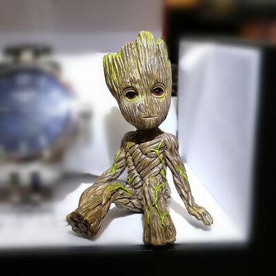 Superhero Little Baby Groot Guardians of the Galaxy Sitting Tree Man Figure