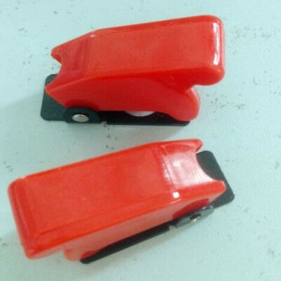 1pc Red Led Toggle Switch Flip Safety Cover Guard Tr01