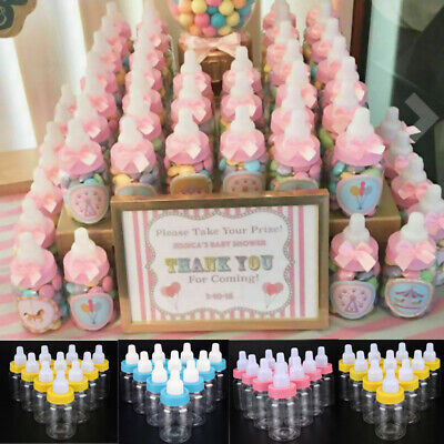 24X Fillable Bottles for Baby Shower Favors Blue Pink Party Decorations Girl