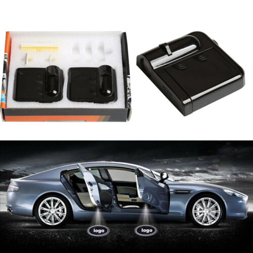 2x Wireless Laser LED Car Door Courtesy Welcome Projector Lights For Audi