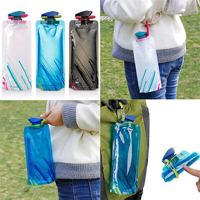 Travel Kettle Cup Outdoor Sport Portable Folding Collapsible Water Bottle 700ml