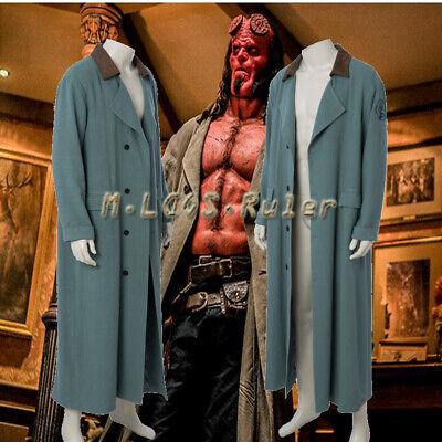 Hellboy Movie with Men's Adult Clothing Coat Cosplay Costumes Halloween overcoat