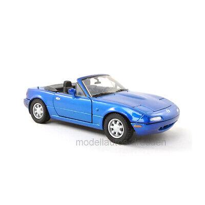Motormax 73262 Mazda MX-5 Miata MkI blau metallic Maßstab 1:24 Modellauto NEU! ° (Mazda Miata Motor)