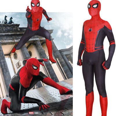 US Spider-Man Far From Home Cosplay Costume Spiderman Zentai Suit Kids Alults - Children Spider Costume