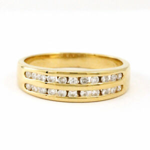 18k Yellow Gold Diamond 22-Stone Ring, Size 6.5, Estate, #3793