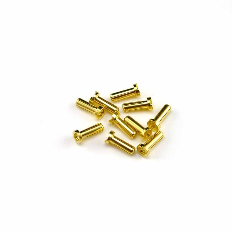10X HobbyStar 4.0mm Low-Profile Bullet Connectors, Plugs, LiPo RC Battery USA