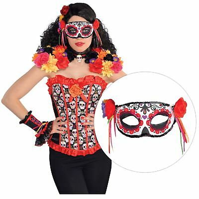 Ladies Day of the Dead Floral Fiesta Eye Mask Halloween Costume Accessory Mexico](Halloween Mask Mexico)