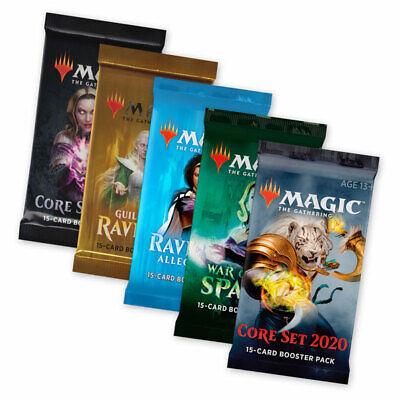 Magic the Gathering WELCOME-Set 5 Booster m20 Spark Ravnica Guilds m19 MTG en