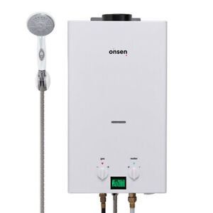 """Onsen 10L Portable Tankless Water Heater (2 """"D"""" / 12V ignition)"""