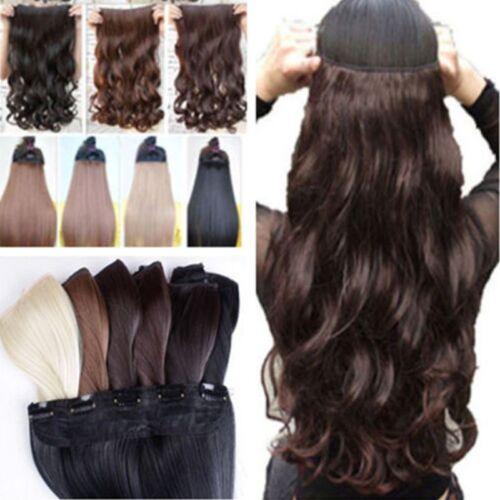 braun Haarverlängerung Gewellt Clip in Hair Extensions Haarteil Haarverdichtung