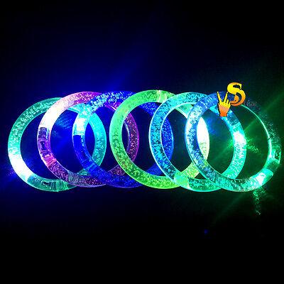 Glow Wristbands Bulk (5 Pieces Light Up Acrylic Bracelet Wristband LED Flashing Glow Blinking)