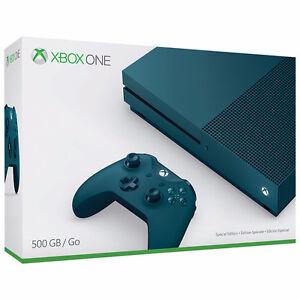 BRAND NEW BLUE XBOX ONE S 500GB LTD EDITION +HALO  LTD EDITION