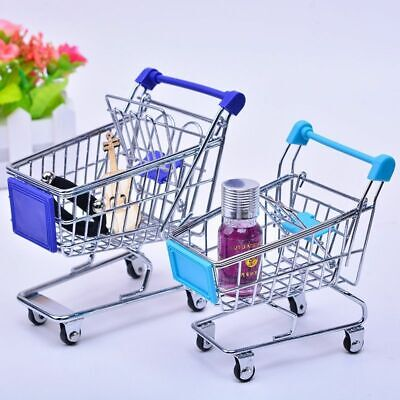 Mini Shopping Carts Store Basket Storage Perfume Lipstick Soap Holder Organizers
