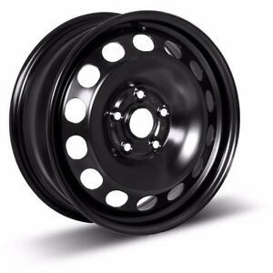New Black Steel Wheels 5 Bolt