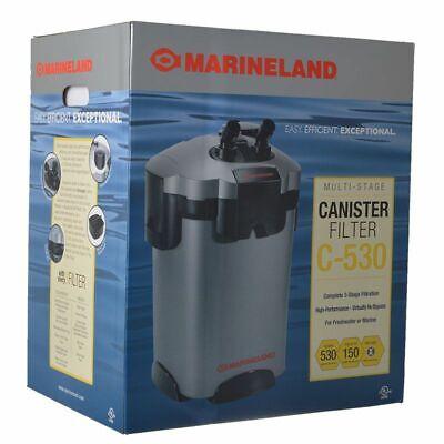 L Marineland C-530 Canister Filter fish tank freshwater saltwater pet big