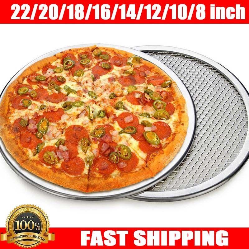 6''- 22'' Aluminium Mesh Pizza Screen Baking Tray Bakeware P