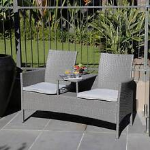 Outdoor Furniture 2 Seater Table Chair Set Patio Lounge  - Grey Brisbane City Brisbane North West Preview