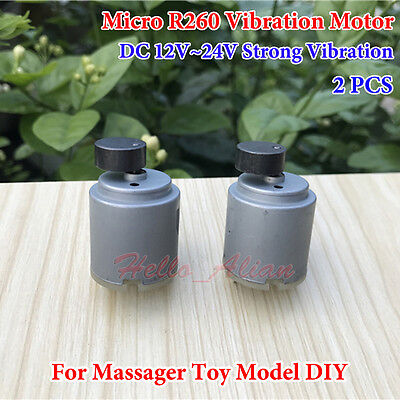 2pcs Dc 12v 24v Strong Vibration Mini R260 Vibrating Dc Motor For Massager Diy
