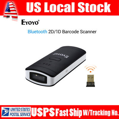 Ey-002s Portable Wireless Btooth Barcode Scanner 2d1dqr For Android Mac Win
