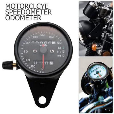 12V Motorrad Tacho Kilometerzähler Tachometer LED Kontrollleuchten Universal Neu