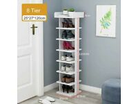 Corner Shoe Rack Stand Cabinet Organizer 8 Tier