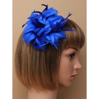 Real Flor Azul Tocado Pasador para Bodas,Carreras,Graduación