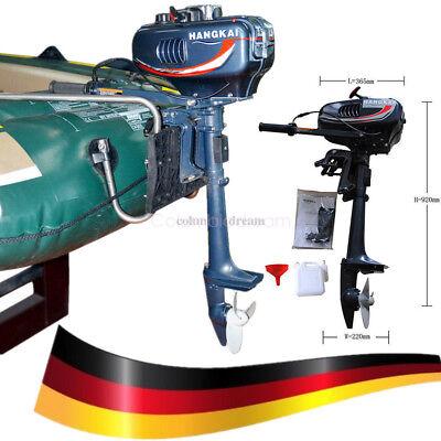 3,5PS Wassergekühlt 2-Takt Benzinmotor Außenborder Bootsmotor Außenbordmotor DE
