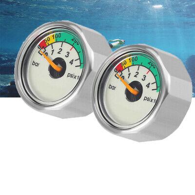 Bar//PSI//Nitrox 5,000PSI UK Scuba Diving Pony Bottle Pressure Gauge Mini SPG