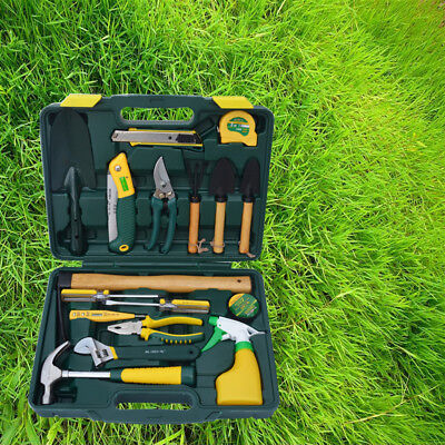 17-piece Landscape Gardening Tools Kits Combination Home Tool Kit/carrying Case