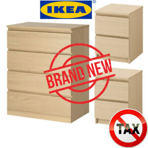 SAVE $50 - IN BOX - IKEA MALM 4-DRAWER CHEST - 2 x MALM 2-DRAWER