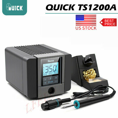 120w Quick Ts1200a Lcd Touch Display Soldering Station For Phone Pcb Ic Rework