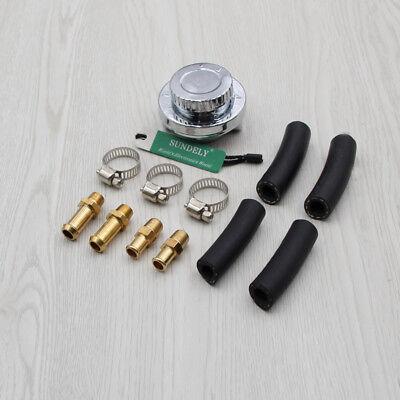 UK 1-5 psi Adjustable Fuel Pressure Regulator Carburetor Carb Kit 8mm 10mm Hose