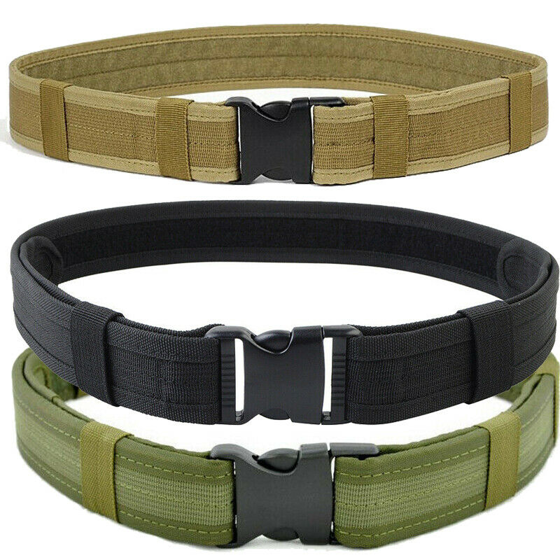 Mens Nylon Military Magnetic Tactical Waist Belt Quick Release Buckle Adjustable Belts