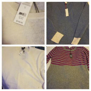 Three Brand New XL Cashmere Sweaters