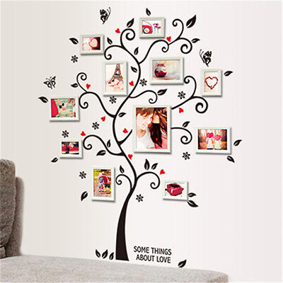 Family Tree Wall Decal Sticker Large Vinyl Photo Frame Removable Beauty New