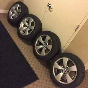 17 inch bmw winter tire from goodyear Strathcona County Edmonton Area image 1