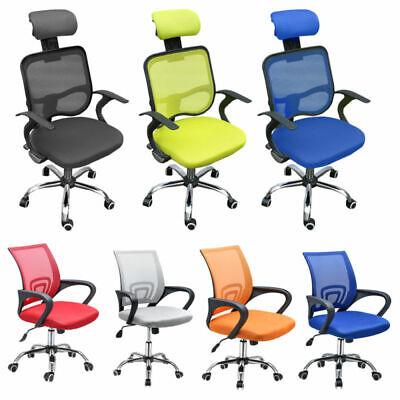 Mesh Office Chair Ergonomic 360° Swivel Lift Computer Desk Adjustable Height UK