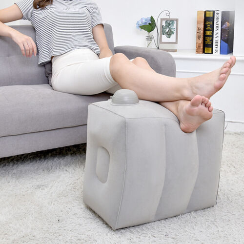 Inflatable Travel Foot Rest Pillow Kids Car Home Office Slee