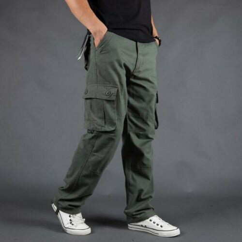 5 Colors Men's Loose Outdoor Cargo Sports Casual Pants Overalls hip-hop Trousers
