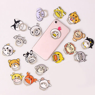 Cute Cartoon Animal Cat Dog Cell Phone Finger Ring Stand Holder Acrylic Alloy Dog Cell Phone Holder