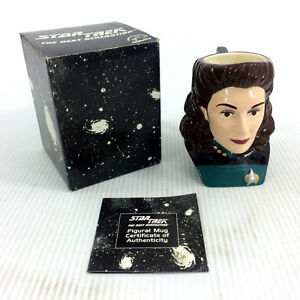 Star Trek Figural Mug Counselor Deanna Troi Limited 1st Edition