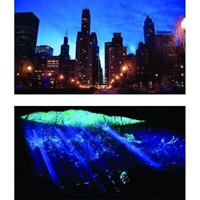 GloFish Reversible Aquarium Background 12x20in Cityscape & Underwater Cave Scene