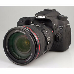 Canon 70D With 24-105L Bag and Card